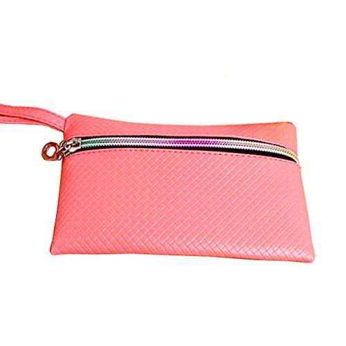 GSPStyle Donna Clutches Portafogli Cerniera Portafoglio Monete Borse organizer, Yellow (giallo) - 002720 Pink