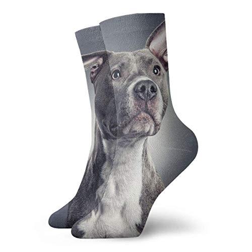 Needyo Strümpfe Kompression,Laufsocken,Pit Bull Fashionable Crew Socks Unisex Cotton Comfortable Warm Socks Stockings für Sport,Medi,Flug, Reisen,Schwangerschaft & Medizinische -