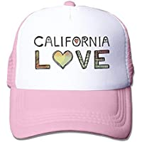California Love Adjustable Trucker Hats Caps Men Women,One Size Baseball Cap Adjustable Dad Hat Unisex Sports Trucker Cap Peaked Cap for Men Women Adults