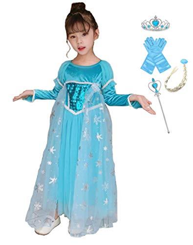 Frozen Dress Up Kleidung - EMIN Kinder Mädchen Prinzessin Kleid Langarm