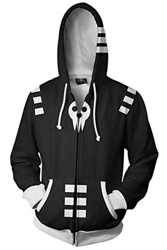 Soul Cosplay Eater Kostüm - Soul Eater Merchandies Pulli Kapuzenpulli Cosplay Kostüm Schwarz S