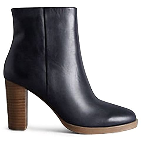 Marks & Spencer AUTOGRAPH T022807 Leather Block Heel Ankle Boot with Insolia RRP £85 - Navy - UK 3