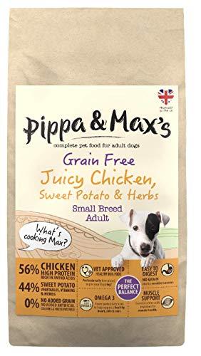 Pippa & Max's Hundefutter, für kleine Rassen, Saftiges Huhn, Süßkartoffel & Kräuter, Getreidefrei, 10 kg