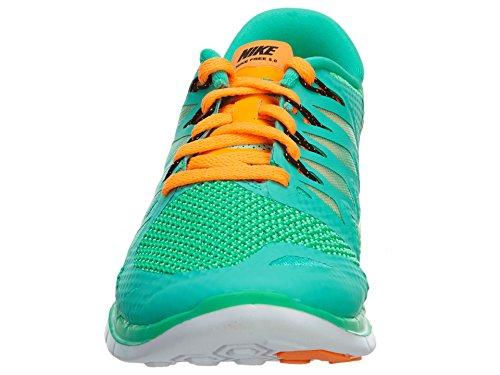 Nike - Wmns Free 5.0, Scarpe da corsa da donna Menta/Bright Citrus-Green Glow