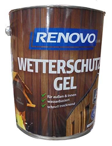 Renovo 5Ltr, Wetterschutz-Gel 8415 Palisander, wasserbasiert, für außen und innen