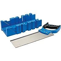 Silverline 335464 - Caja de ingletes con sierra (300 x 90 mm)