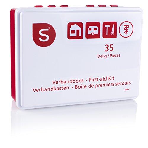 Smartwares EHBO1 Erste Hilfe Set - 35-teilig - Basisausstattung für erste Hilfe - Daheim/Auto/Wohnwagen/Boot