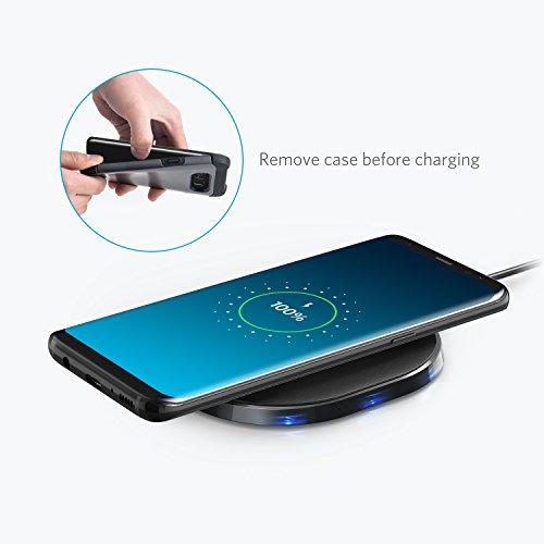 Qi-Certificato con Ricarica Rapida Alimentatore Wireless per Samsung S9 // S9+ //Edge // Plus Anker Caricatore Senza Fili 10W PowerPort 10 Note 5 e Ogni Altro Dispositivo Compatibile Qi Wireless