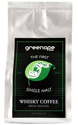 GreenApe 1st Single Malt Whisky Coffee | 100% Brasilianische Arabica Kaffeebohnen | Veredelt mit...