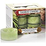 Yankee Candle Lemon Grass And Ginger Tea Light Candle (8.31 Cm X 8.31 Cm X 5.99, Green, Set Of 12)