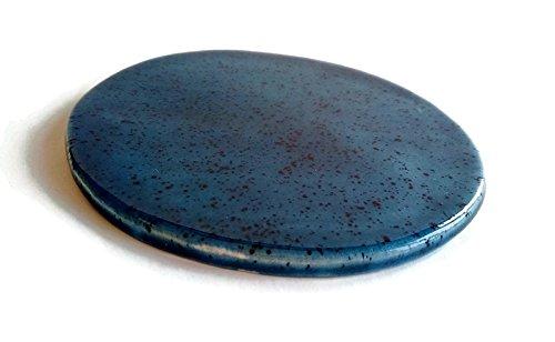 ceramic-coaster-choose-your-color-blue-or-brown-coaster-tile-simple-coaster-art-coaster-drink-coaste