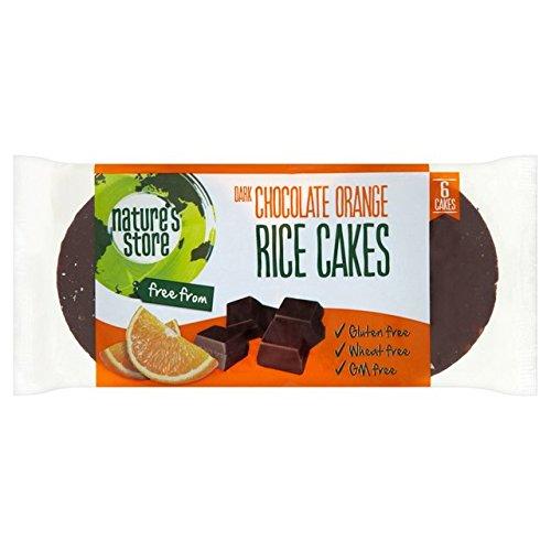Store & Nature gluten du blé gratuit foncé Choc et orange galettes de riz 100g