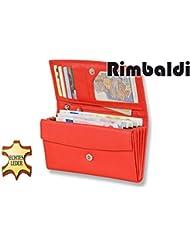 """""""Rimbaldi"""" le portefeuille de grands luxe femmes avec beaucoup de compartiments, fabriqué à partir de cuir de veau naturel"""