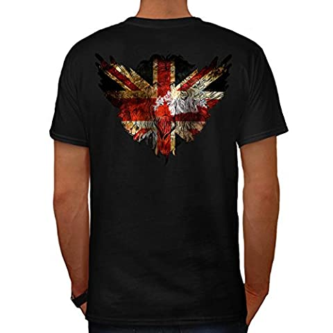Flagge Tier brittish Vereinigtes Königreich GB Identität Herren S T-shirt Zurück | Wellcoda