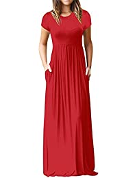 Vestido largo de manga corta, Max Vestir , Vestidos de Fiesta Mujer, Vestidos Mujer