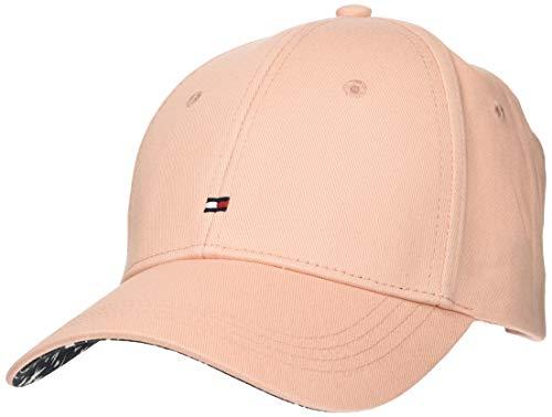 Tommy Hilfiger Damen Baseball Cap BB Print Cap AW0AW06181, Gr. One Size (Herstellergröße: OS), Rosa (Coral Cloud 663)