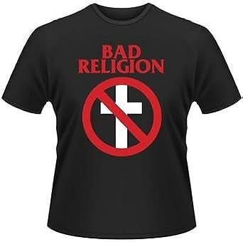 Live Nation Men's Bad Religion - Cross Buster Crew Neck Short Sleeve T-Shirt, Black, Small