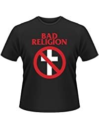Live Nation Men's Bad Religion - Cross Buster Crew Neck Short Sleeve T-Shirt