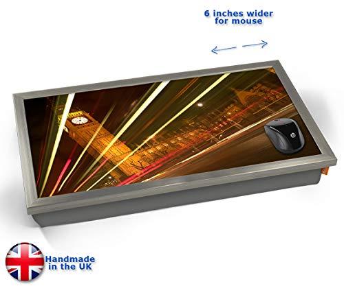 Big Ben Traffic Cars Lights Night London Cushioned Bean Bag Laptop Lap Tray Desk - Built-in EMF...