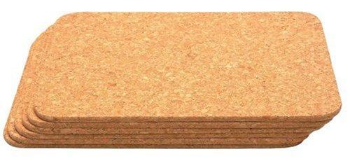 T&G Woodware 6 Sottopentola rettangolari in sughero naturale 28x20,5