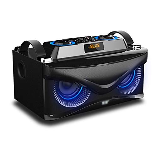 Xiao Jian- Drahtlose Bluetooth-Lautsprecher Super Subwoofer Mini Kanone Mobile Car Audio Smart Home Voice Announcer Außen Wecker 3D Surround Große Kapazität Tragbare Wecker (Farbe : A)