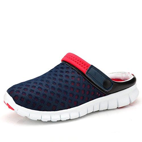 LXXAUnisex Estate Spiaggia Maglia Respirabile Peso Leggero Scarpe Da Trekking Sandali Sportivi Calzature Sportive Due Usi red+blue