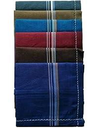 Kuber Industries Cotton 6 Piece Men's Handkerchief Set - Multicolour (CTKTC05648)
