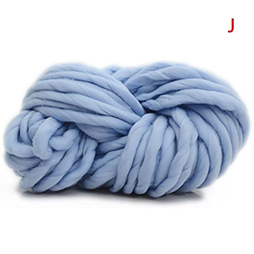 Blue Vessel Isländische Wolle Pullover klobige Wolle Garn super sperrigen Arm stricken wolle Roving gestrickte Decke Garn (blau) - Klobige Baumwoll-pullover