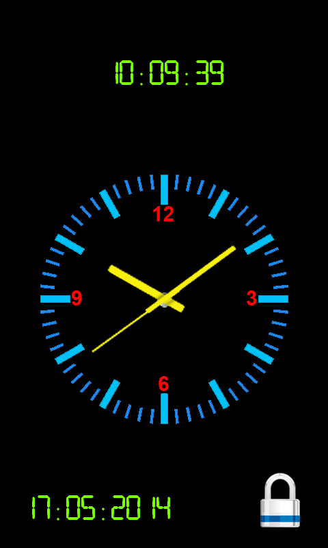 Analog Clock Screen Lock