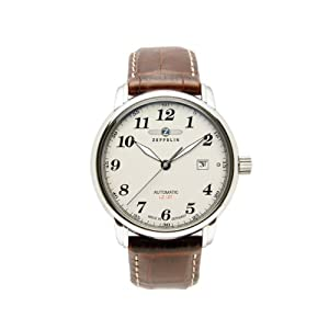 Reloj de caballero Zeppelin 76565 automático, correa de piel color marrón de Zeppelin
