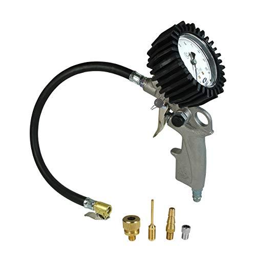 DF DF11046 Reifenfüller geeicht: Reifenfüllgerät, Momentstecker, 4er Adapter-Set -