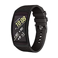 NotoCity Compatible with Samsung Gear Fit 2 Pro Strap Silicone Band Replacement Strap for Samsung Gear Fit2 / Gear Fit 2 Pro Smartwatch