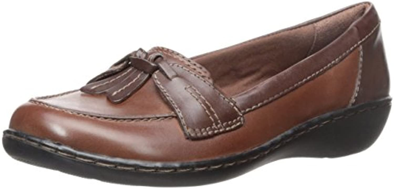 Clarks Ashland burbuja del dedo del pie Moc holgazán de cuero, Brown Leather, US 7 2A | UK 5 | EU 37-38