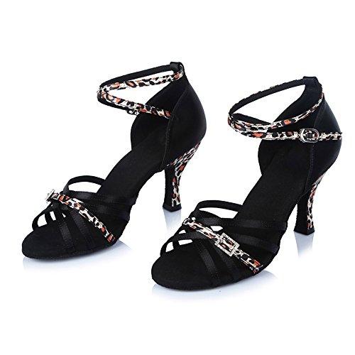 Zapatillas De Baile Ykxlm Satin Latin Dance / Standard Ballroom Ballroom, Modelo Itaf402 Leopard