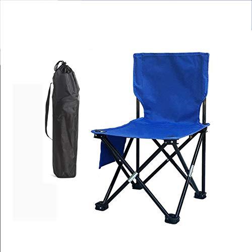 YUWJ Camping hocker Falten tragbare licht Camp hocker im freien billig tragbaren klappstuhl geeignet für Strand Grill Reise Picknick,Blue,Single