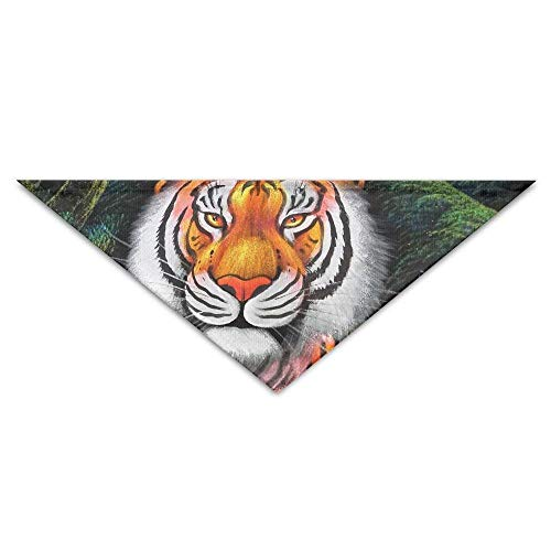 Sdltkhy The Tiger Baby The Tiger Mother Triangle Pet Scarf Dog Bandana Pet Collars Dog Cat - Birthday