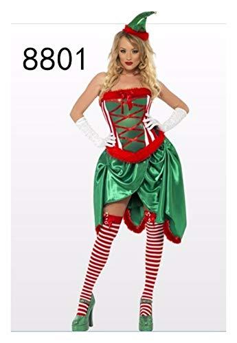 SDLRYF Weihnachtsmann Kostüm Erwachsene Weihnachten Cosplay Kostüm Grüner Weihnachtsbaum Tutu Kleid Weihnachten Kostüm Karneval Einheitliche