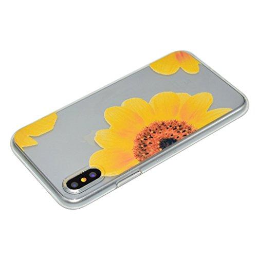 "Coque pour Apple iPhone X , IJIA Transparent Chat Mignon TPU Doux Silicone Bumper Case Cover Shell Housse Etui pour Apple iPhone X (5.8"") XX23"
