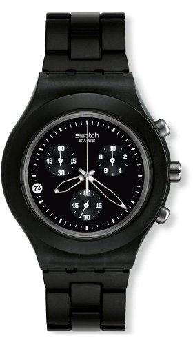 Swatch Herren-Armbanduhr Full-Blooded Smoky Black SVCF4000AG