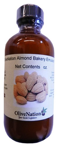 OliveNation Almond Emulsion - Natural Flavoring Real Emulsion - 16 oz - Gluten Free, Alcohol Free , Great for Cookies, frostings, fillings, and Desserts - Baking-extracts-and-flavorings