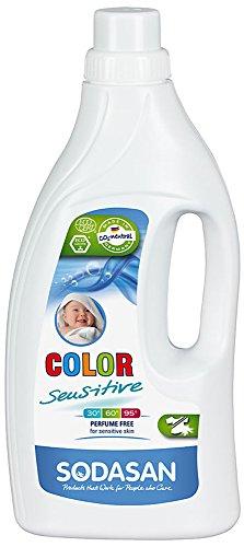 SODASAN Color sensitiv Flüssigwaschmittel 1,5 Liter - Color Waschmittel ohne Enzyme