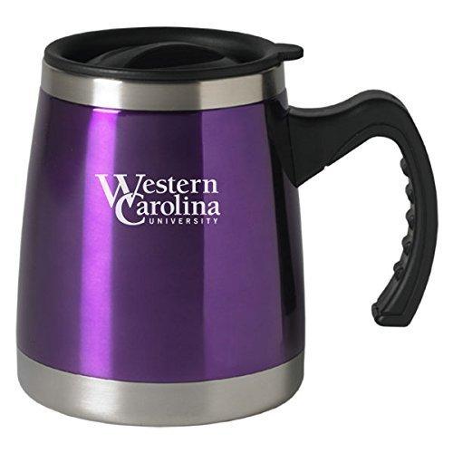 Western Carolina University - 16-ounce Squat Travel Mug Tumbler - Purple by LXG, Inc. Western Carolina University