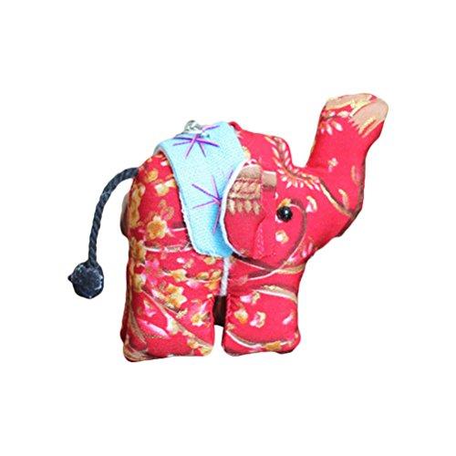 Vosarea Colgante Llavero Colgante Llavero Colgante Llavero Elefante Creativo Regalo (Color al Azar)