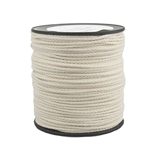 Cotton Rope Cord 1,5mm 100m Braided Color Natural (Beige) Test