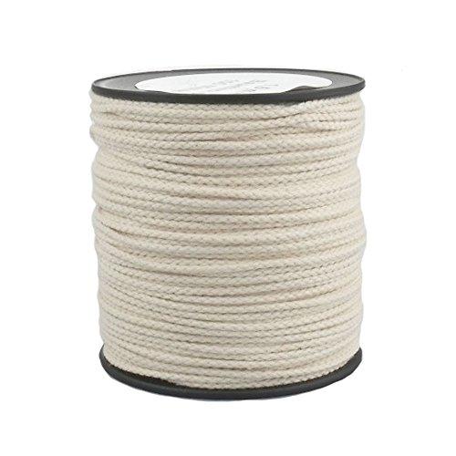 Baumwollseil Seil Baumwolle 2mm 100m geflochten Farbe Natur (Beige)