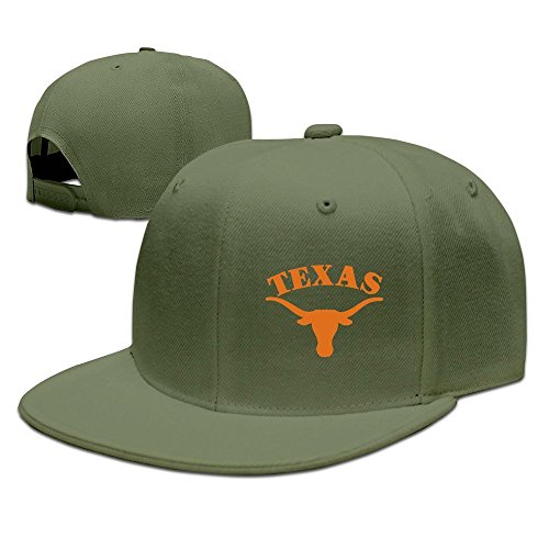 XCarmen Unisex Texas Longhorn Baseball Caps Black ForestGreen