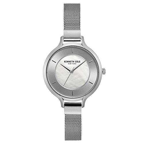 Kenneth Cole New York Damen-Armbanduhr Analog Quarz Edelstahl KC15187002 (Kenneth Wasserdichte Armbanduhr Cole)