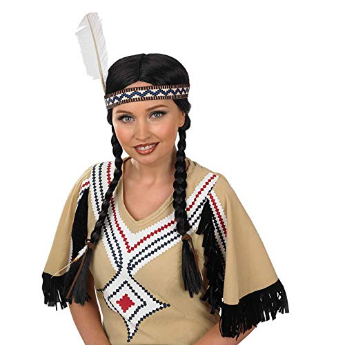 Fun Shack Damen Costume Kostüm, Native American Wig, Einheitsgröße