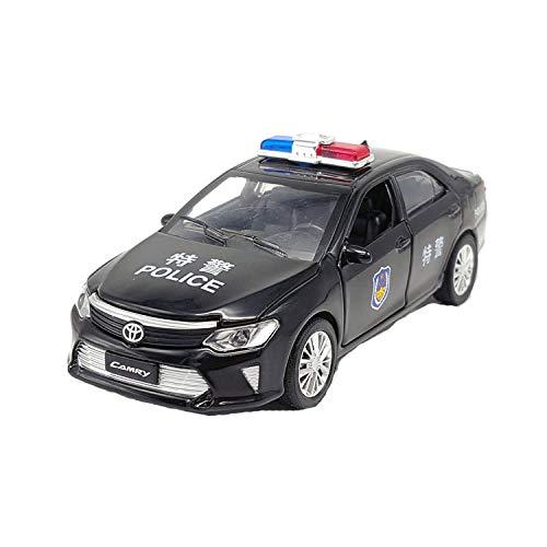GUANGYING 1:32 Toyota Camry Polizeiauto Legierung Automodellsimulation Polizeiauto Modell Junge Sound Und Licht Zurückziehen Spielzeugauto (Toyota Camry Lichter)