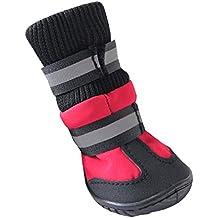 HIKONG 2 Pares Zapatos Mascotas Calzados Botas Calcetines Impermeables Antideslizantes Botines Nieve Agua Lluvia para Perros Pequeños Grandes